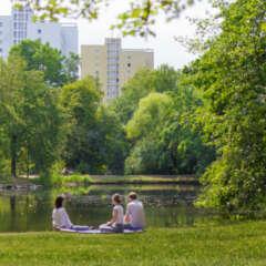 People in a park, Leipzig, Johanna-Park